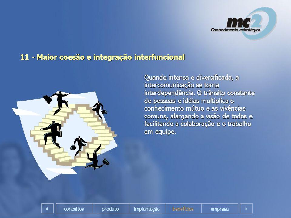 11 - Maior coesão e integração interfuncional