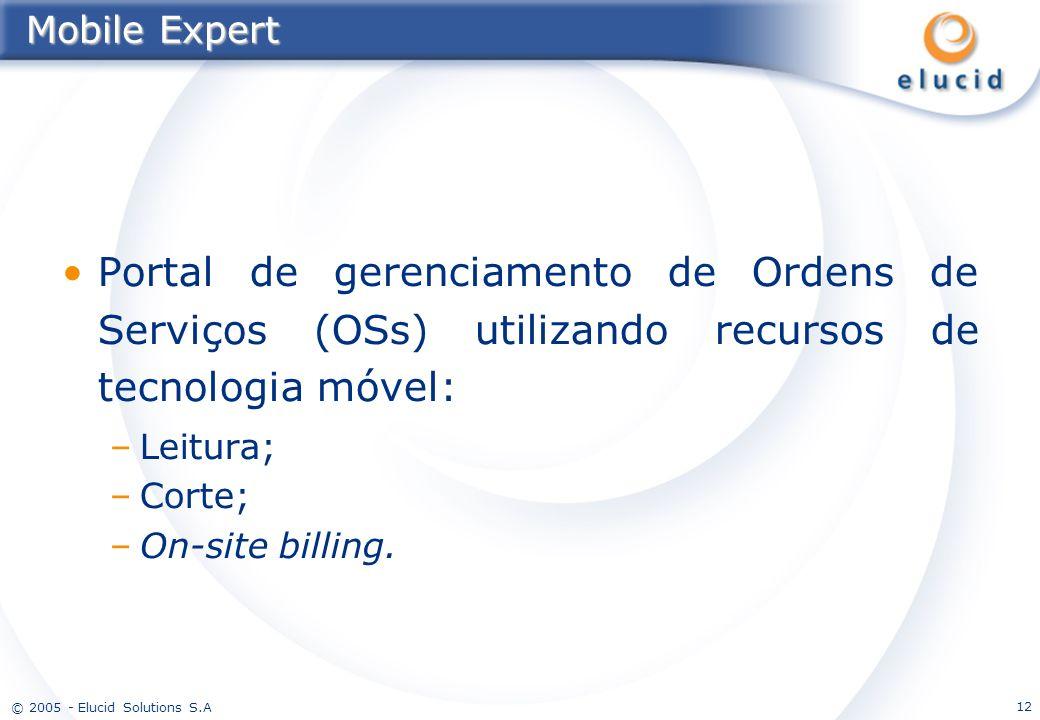 Mobile Expert Portal de gerenciamento de Ordens de Serviços (OSs) utilizando recursos de tecnologia móvel: