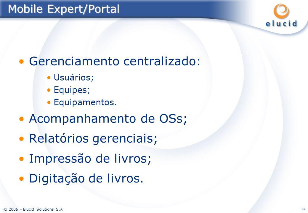 Gerenciamento centralizado: