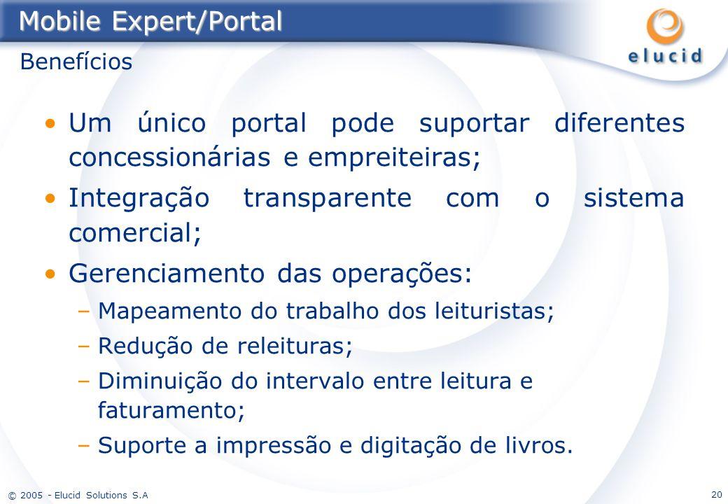 Integração transparente com o sistema comercial;