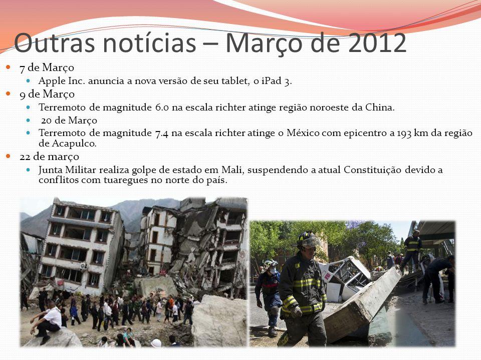Outras notícias – Março de 2012