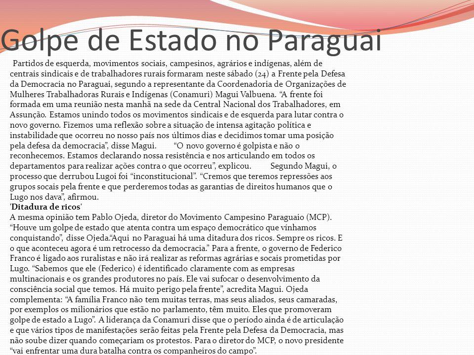 Golpe de Estado no Paraguai
