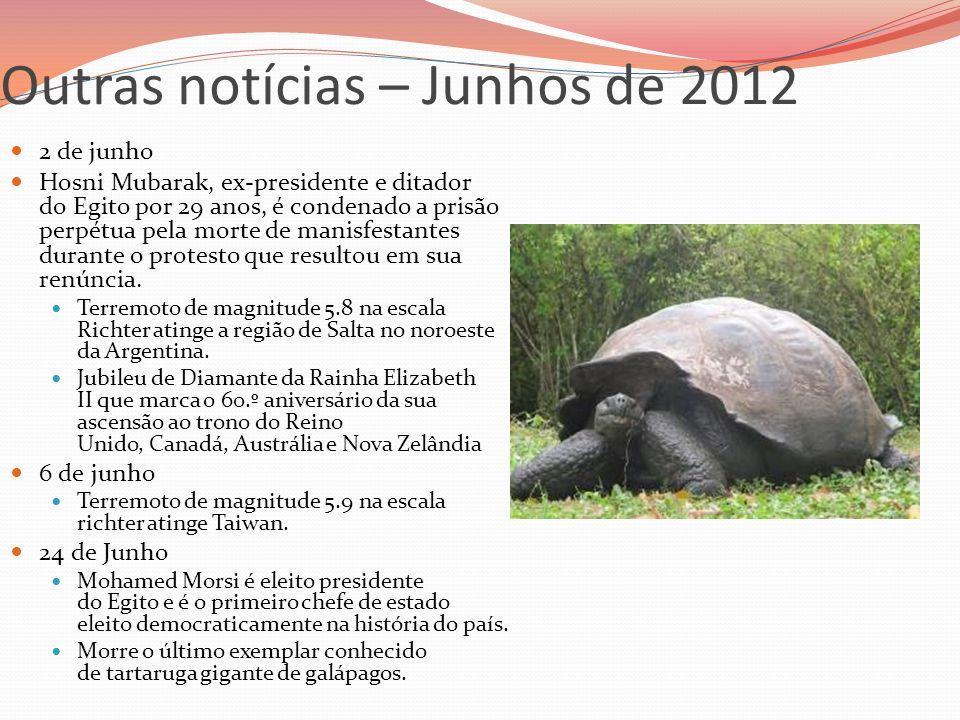 Outras notícias – Junhos de 2012