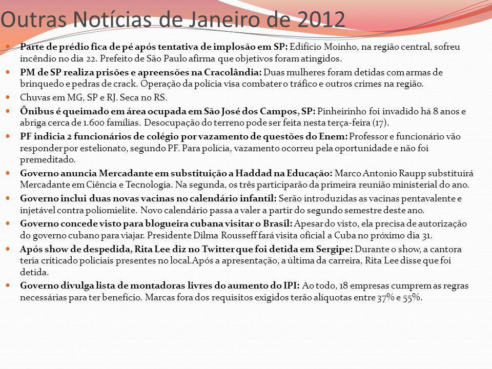 Outras Notícias de Janeiro de 2012