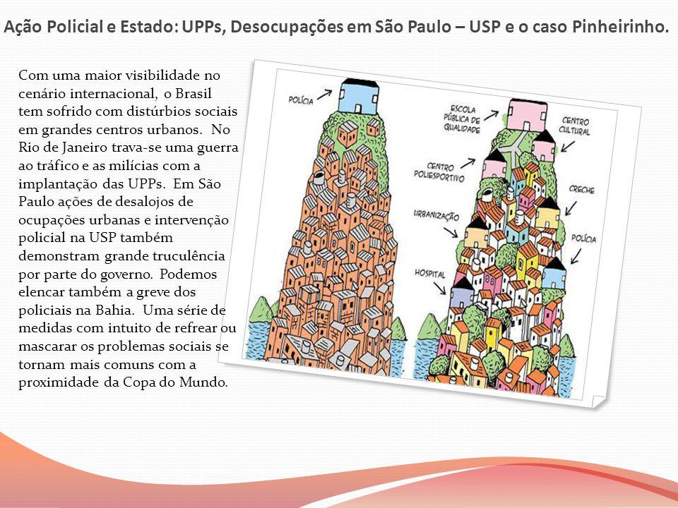 Ação Policial e Estado: UPPs, Desocupações em São Paulo – USP e o caso Pinheirinho.