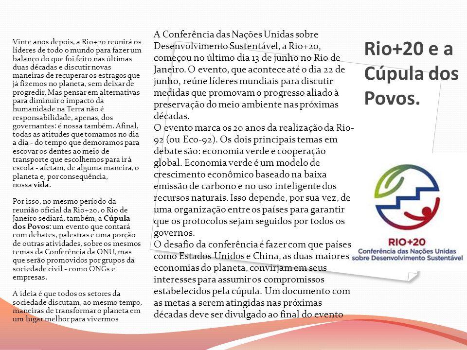 Rio+20 e a Cúpula dos Povos.