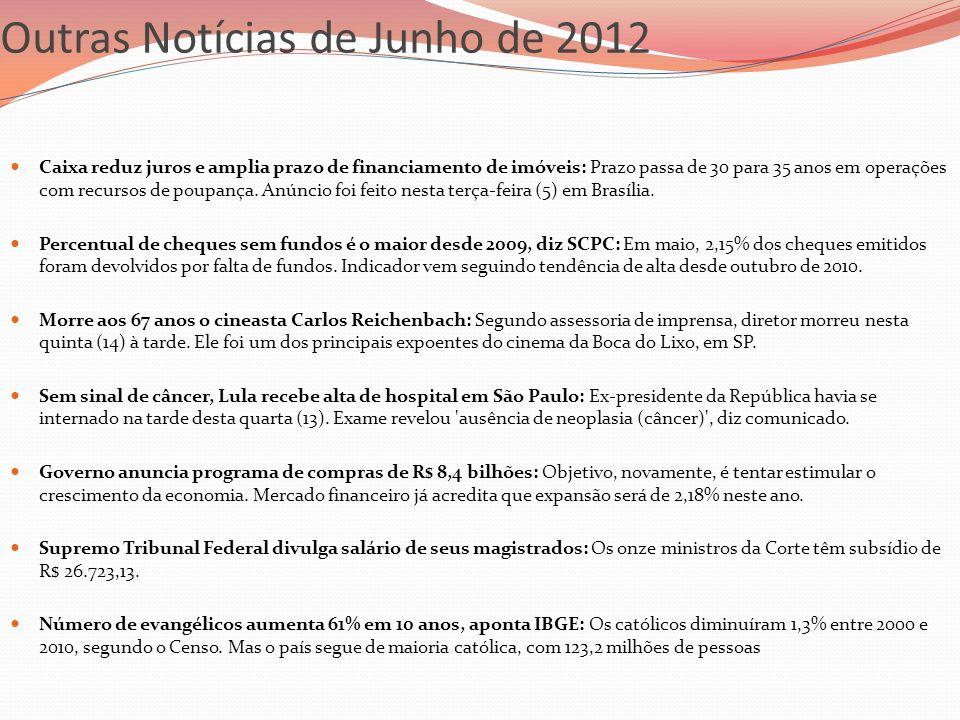 Outras Notícias de Junho de 2012