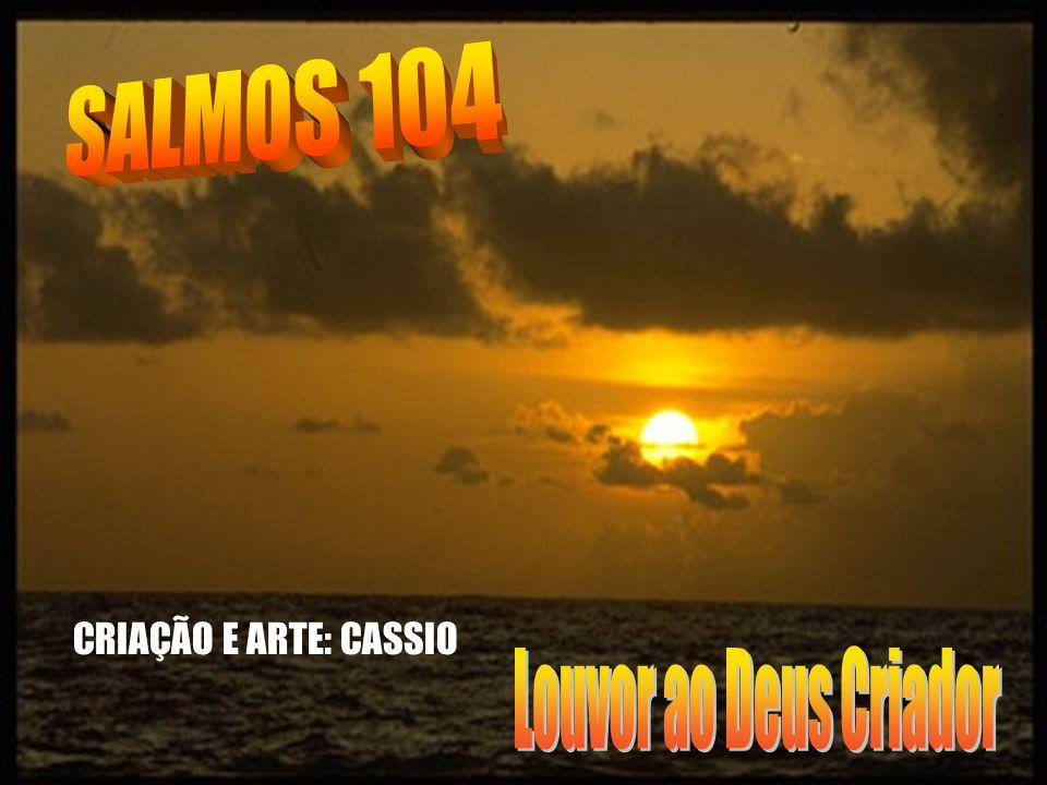 SALMOS 104 CRIAÇÃO E ARTE: CASSIO Louvor ao Deus Criador