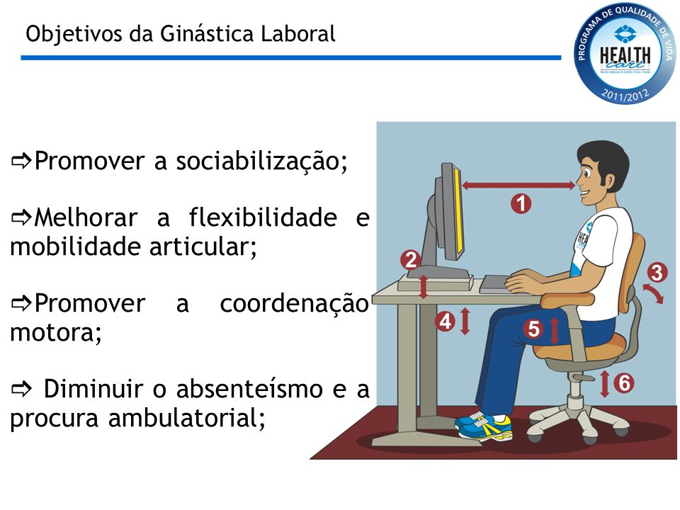 Objetivos da Ginástica Laboral