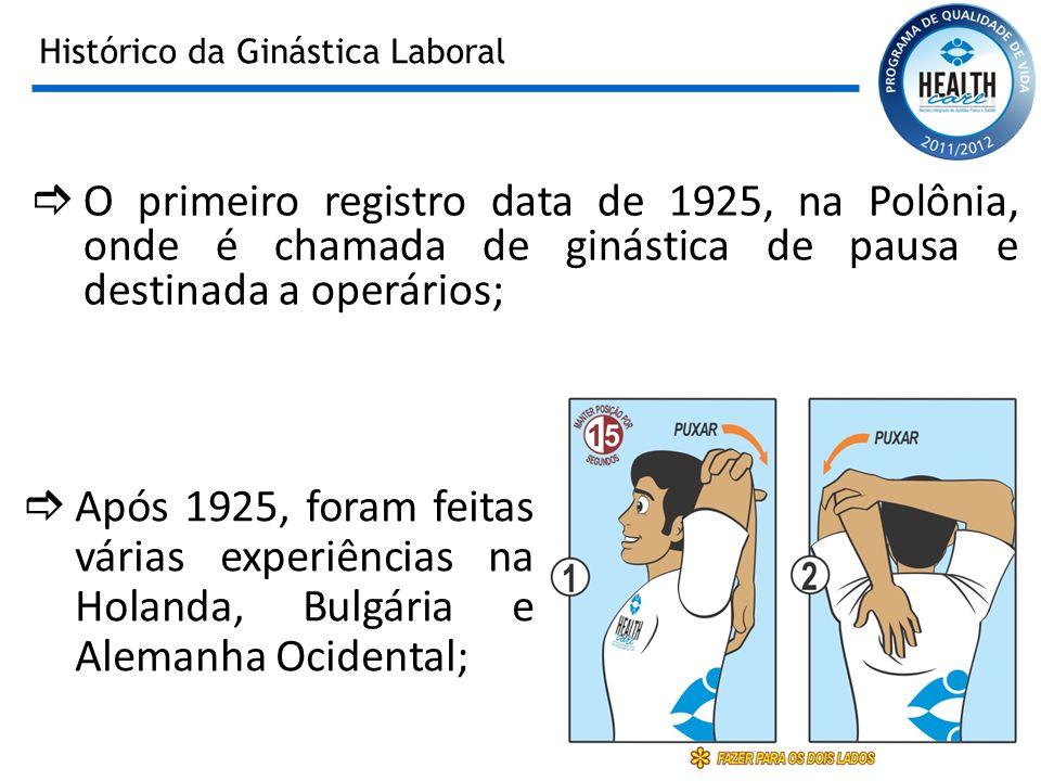 Histórico da Ginástica Laboral