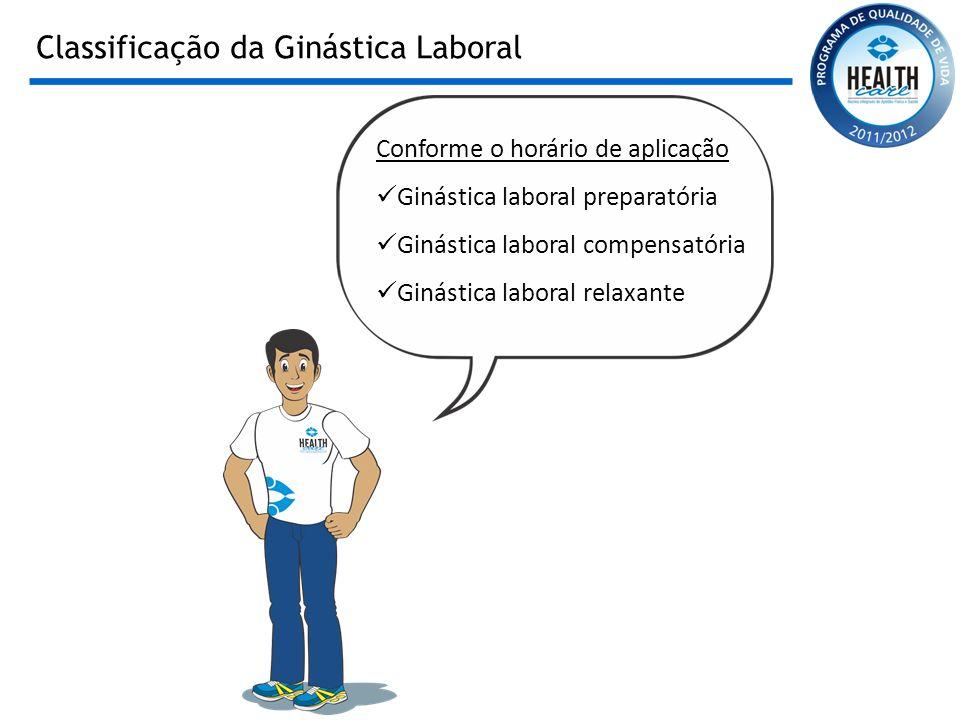 Classificação da Ginástica Laboral