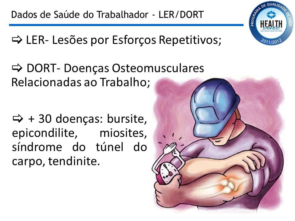 Dados de Saúde do Trabalhador - LER/DORT