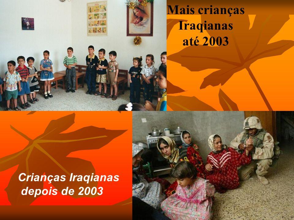 Mais crianças Iraqianas até 2003