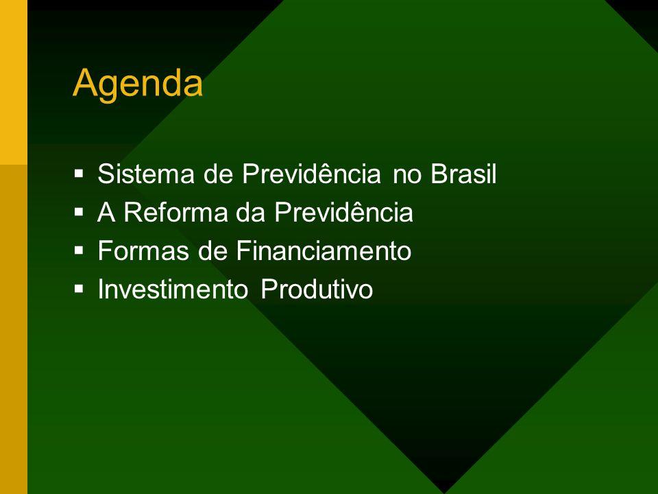 Agenda Sistema de Previdência no Brasil A Reforma da Previdência