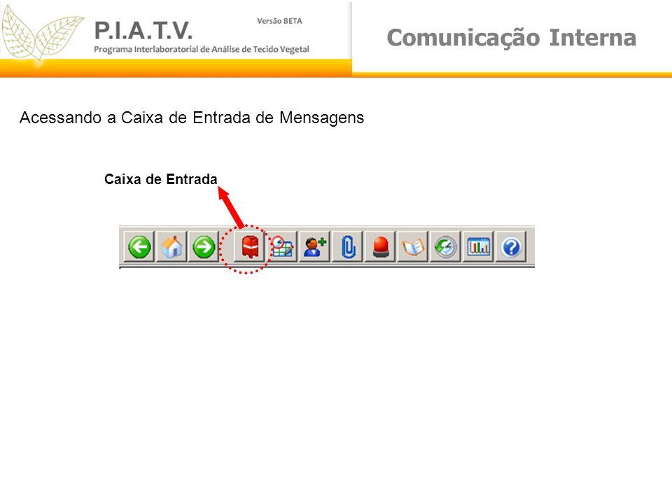 Comunicação Interna Acessando a Caixa de Entrada de Mensagens