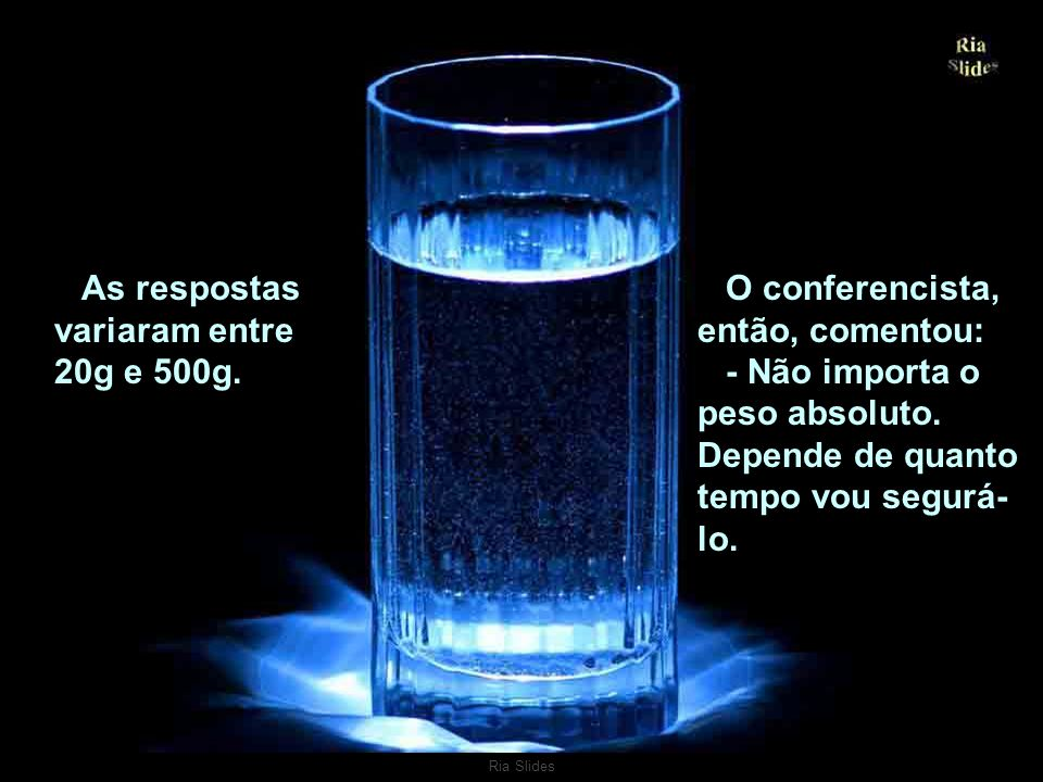 As respostas variaram entre 20g e 500g.