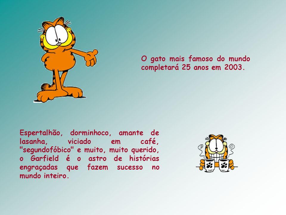 O gato mais famoso do mundo completará 25 anos em 2003.