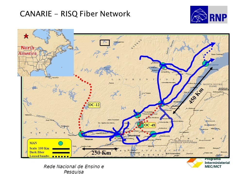 CANARIE - RISQ Fiber Network