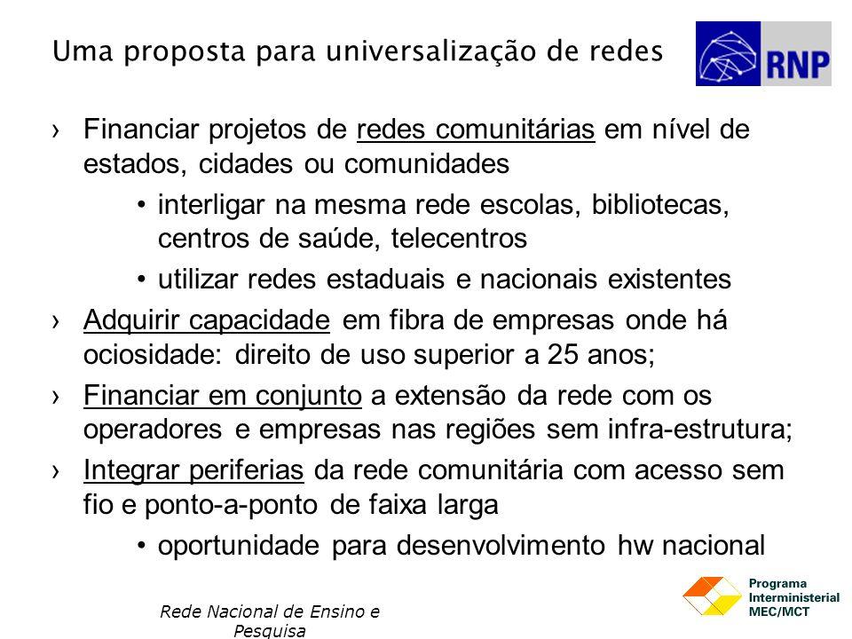 Uma proposta para universalização de redes