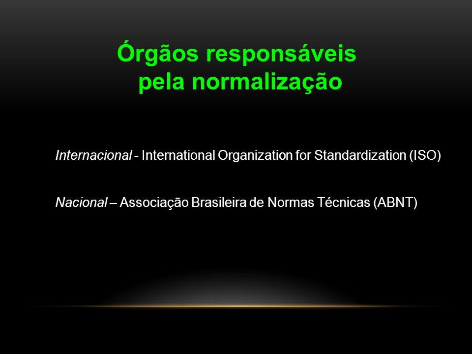 Órgãos responsáveis pela normalização