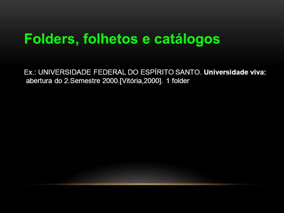 Folders, folhetos e catálogos