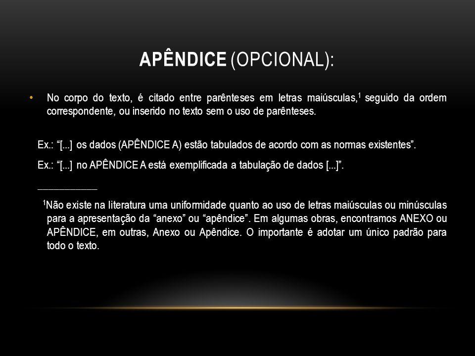 Apêndice (opcional):