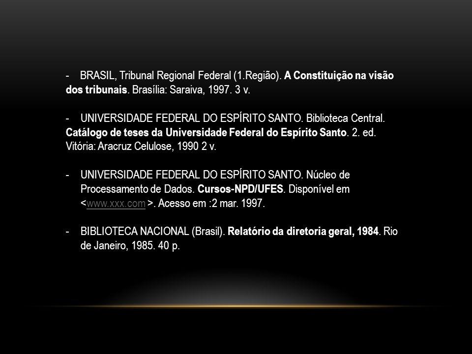 - BRASIL, Tribunal Regional Federal (1. Região)