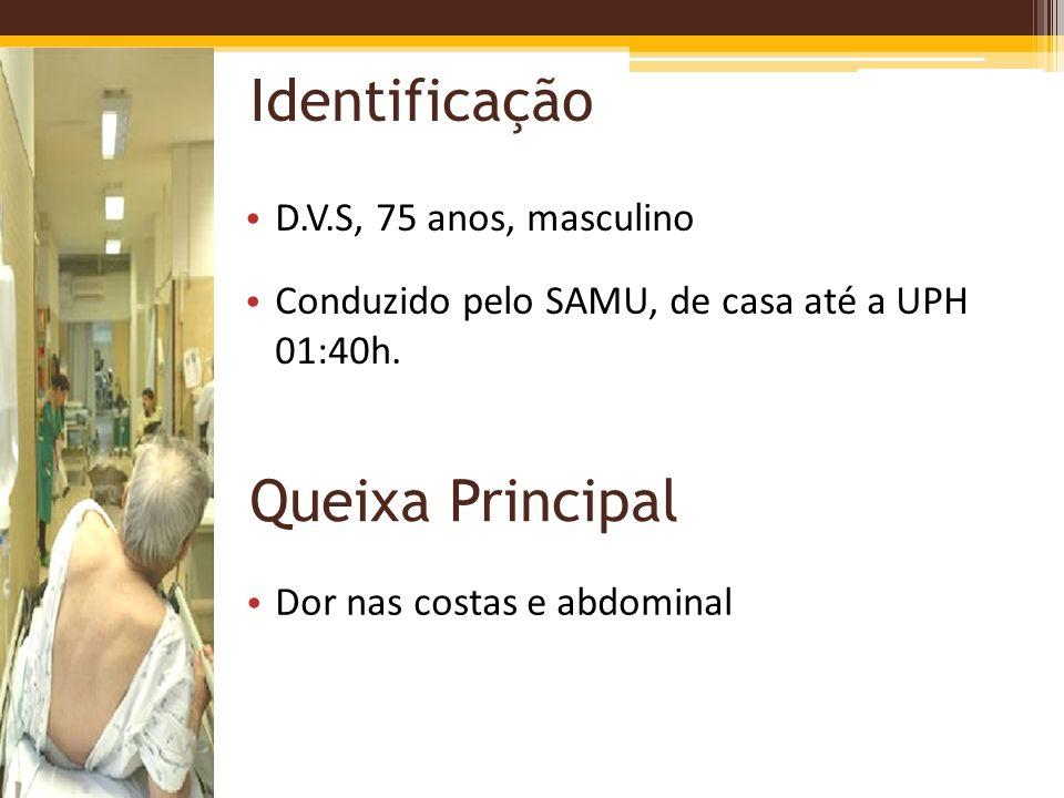 Identificação Queixa Principal D.V.S, 75 anos, masculino