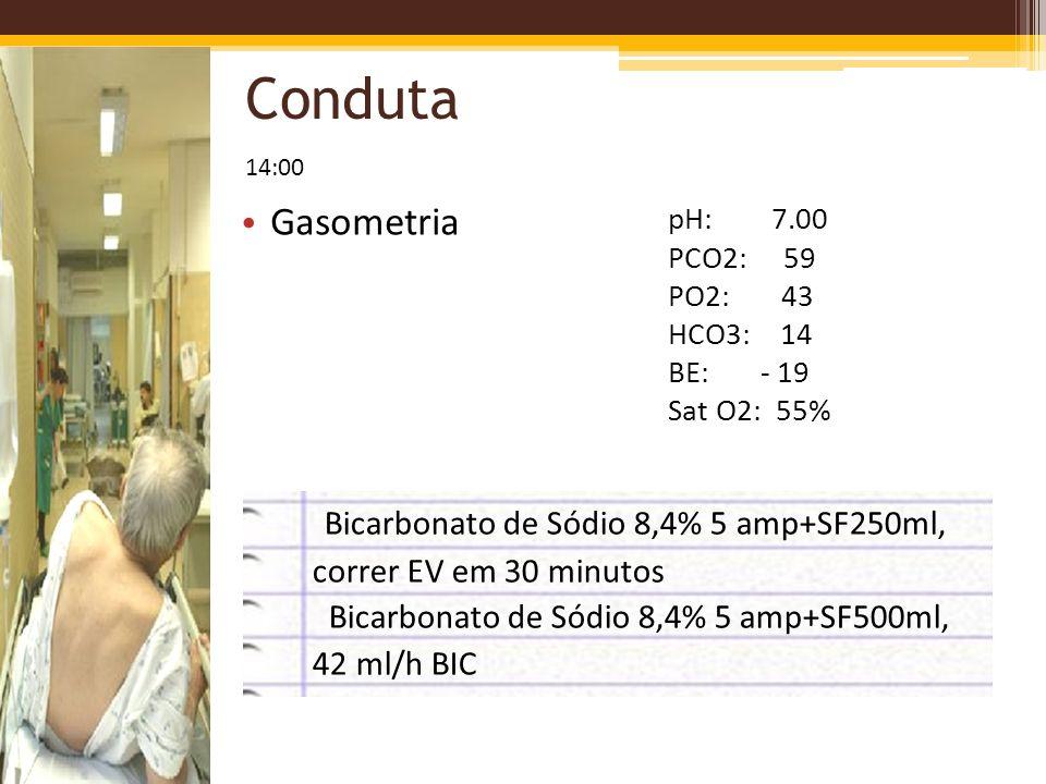 Conduta Gasometria Bicarbonato de Sódio 8,4% 5 amp+SF250ml,