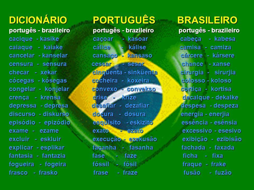 DICIONÁRIO PORTUGUÊS BRASILEIRO