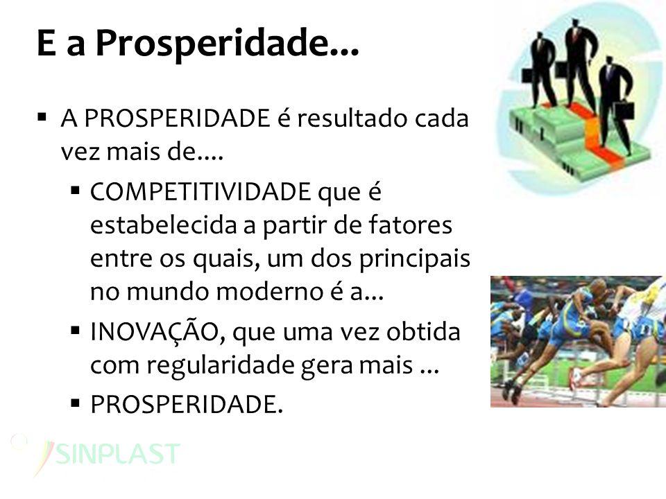 E a Prosperidade... A PROSPERIDADE é resultado cada vez mais de....