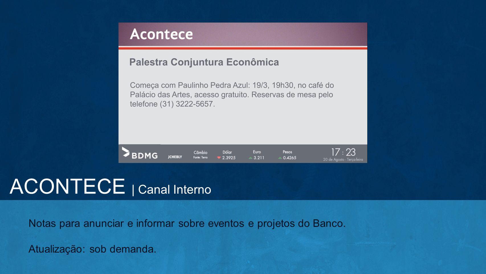 ACONTECE | Canal Interno