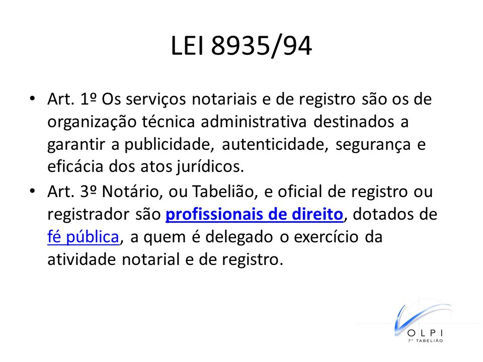 LEI 8935/94