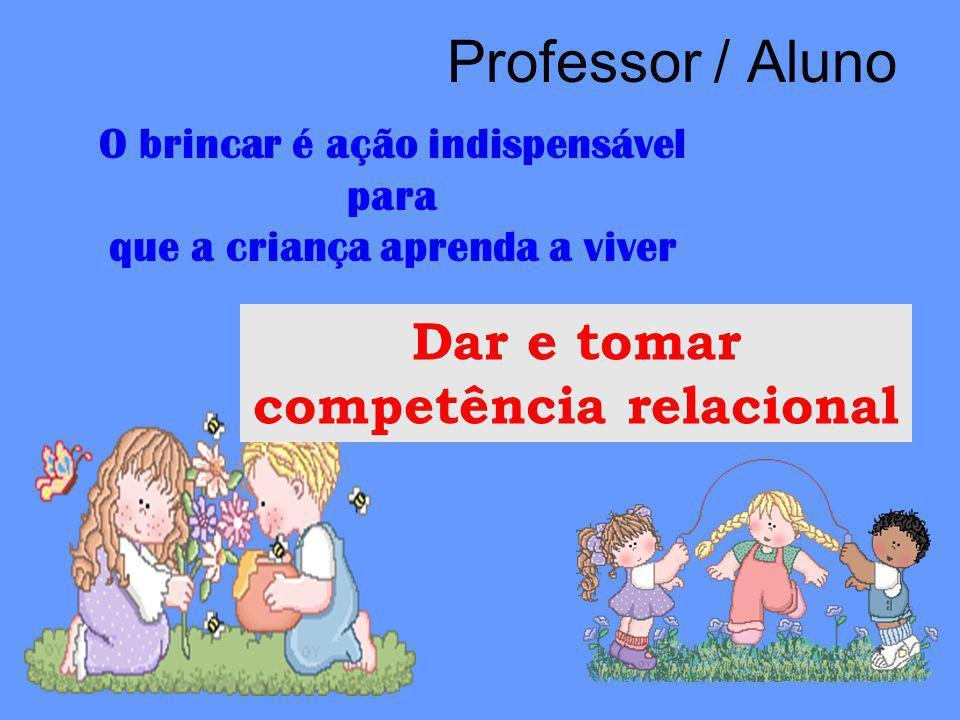 Professor / Aluno Dar e tomar competência relacional