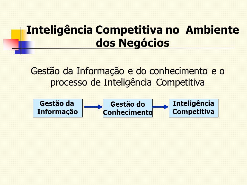 Inteligência Competitiva no Ambiente dos Negócios