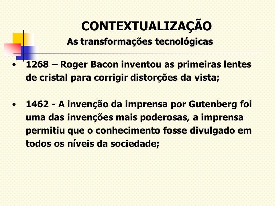As transformações tecnológicas