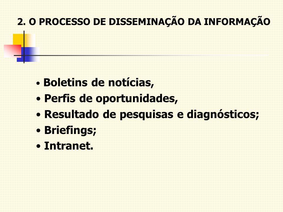2. O PROCESSO DE DISSEMINAÇÃO DA INFORMAÇÃO