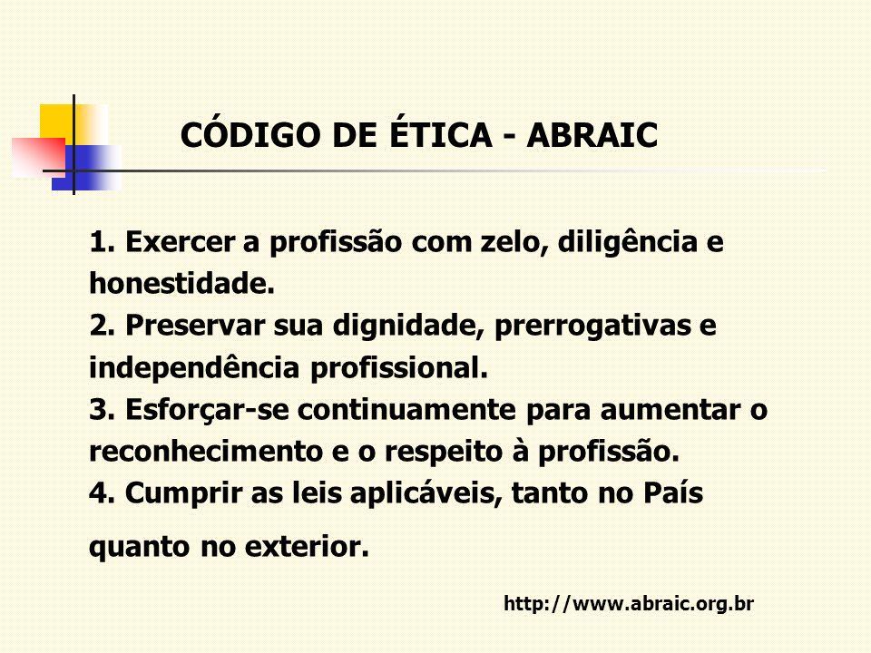 CÓDIGO DE ÉTICA - ABRAIC