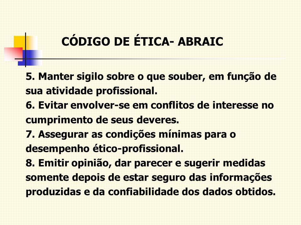 CÓDIGO DE ÉTICA- ABRAIC
