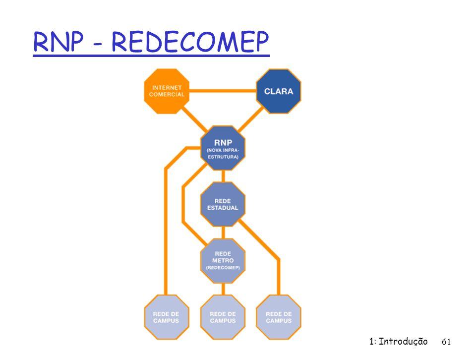 RNP - REDECOMEP 1: Introdução