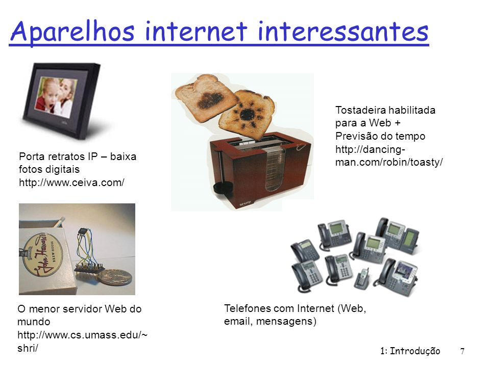 Aparelhos internet interessantes