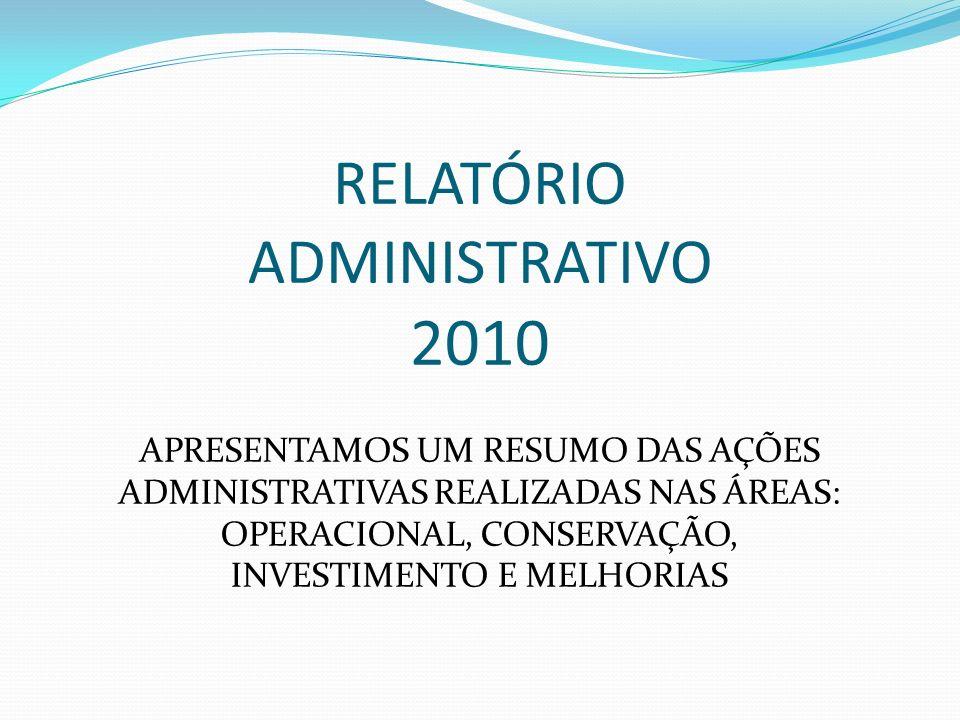 RELATÓRIO ADMINISTRATIVO 2010
