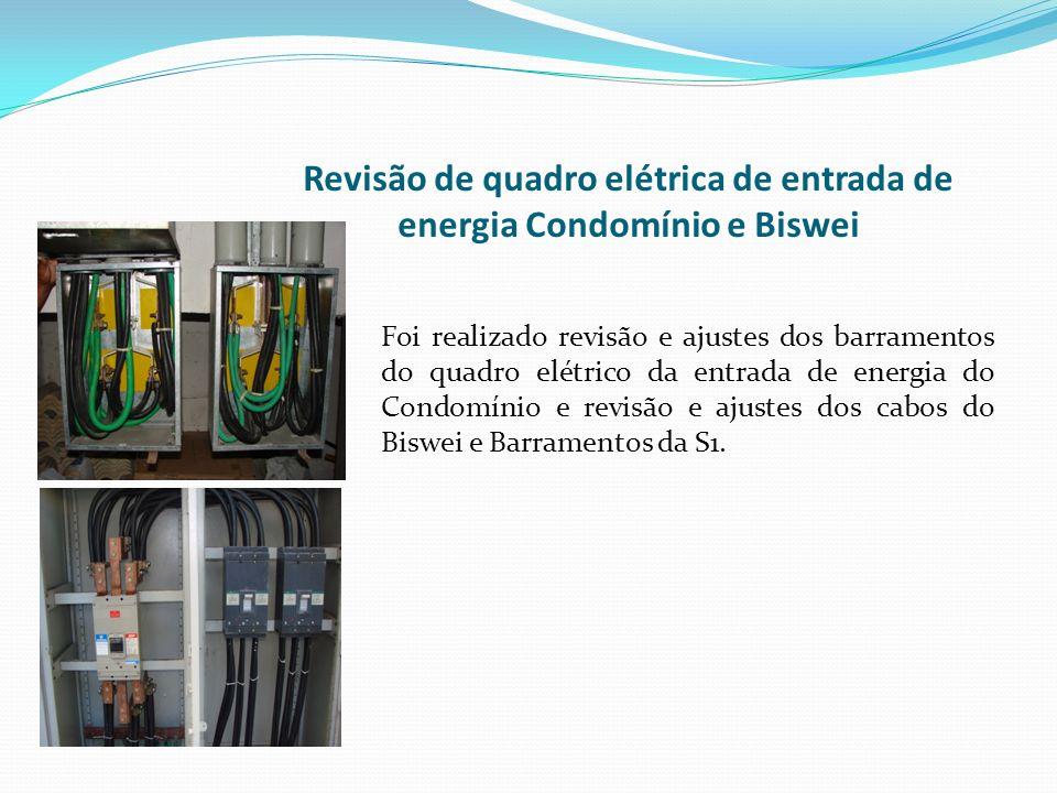 Revisão de quadro elétrica de entrada de energia Condomínio e Biswei