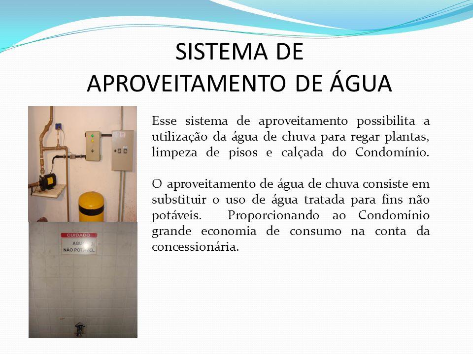SISTEMA DE APROVEITAMENTO DE ÁGUA