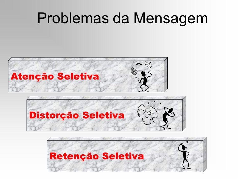 Problemas da Mensagem Atenção Seletiva Distorção Seletiva