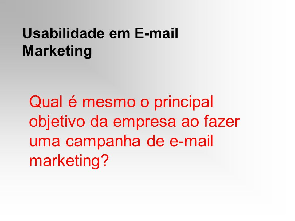 Usabilidade em E-mail Marketing