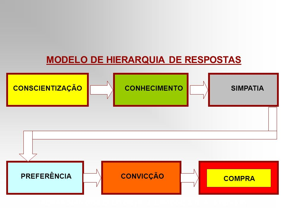 MODELO DE HIERARQUIA DE RESPOSTAS