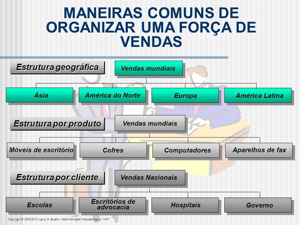 MANEIRAS COMUNS DE ORGANIZAR UMA FORÇA DE VENDAS