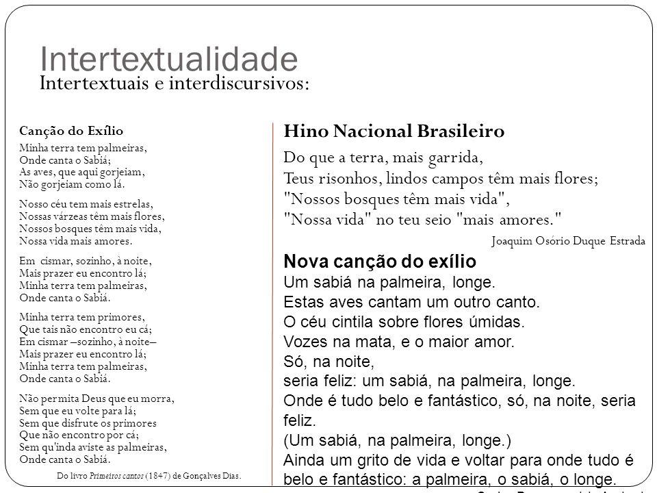 Intertextualidade Intertextuais e interdiscursivos: