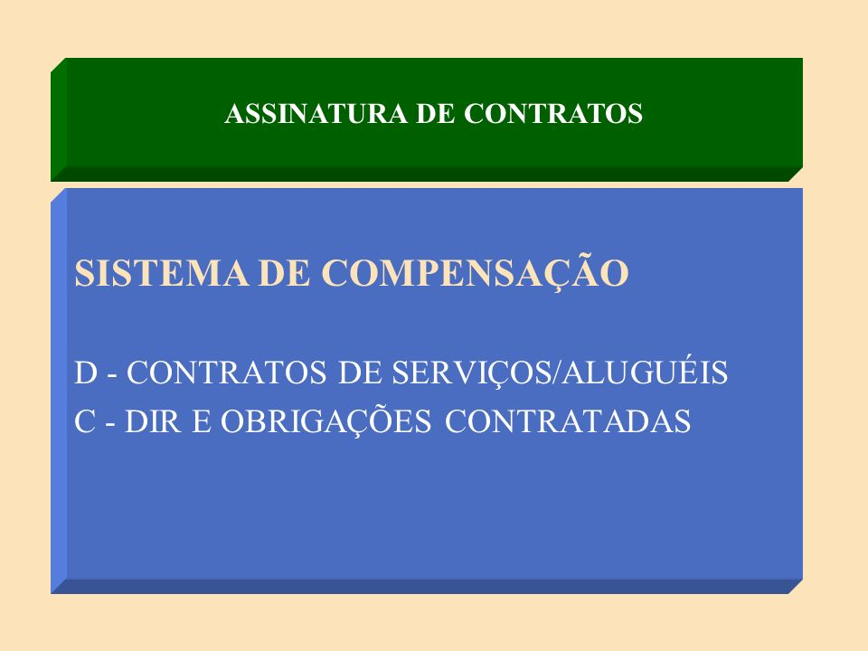 ASSINATURA DE CONTRATOS